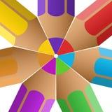 Lápices de drenaje coloreados Imagen de archivo libre de regalías