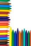 Lápices de la cera de los niños imagenes de archivo