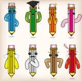 Lápices de la historieta stock de ilustración