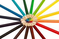 Lápices de la oficina Imagen de archivo libre de regalías