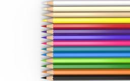 Lápices de madera coloridos fijados Imagenes de archivo