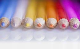 Lápices de madera del color imagen de archivo