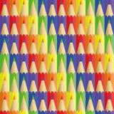Lápices de seis flores - textura inconsútil Fotos de archivo libres de regalías