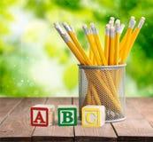 Lápices del ABC Imagen de archivo libre de regalías