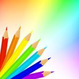 Lápices del arco iris Imagen de archivo libre de regalías
