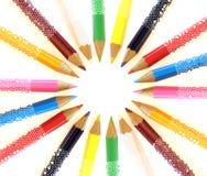 Lápices del color Imagen de archivo libre de regalías