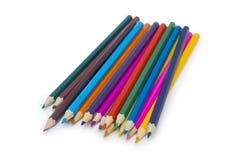 Lápices del color aislados en blanco Foto de archivo libre de regalías