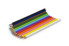Lápices del color aislados en blanco Fotos de archivo libres de regalías