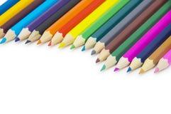 Lápices del color aislados en blanco Imagenes de archivo