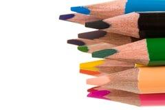 Lápices del color aislados en blanco Fotos de archivo