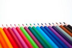 Lápices del color aislados en el fondo blanco Imagen de archivo