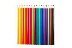 Lápices del color aislados en el fondo blanco Fotos de archivo