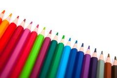 Lápices del color aislados en el fondo blanco Imagenes de archivo