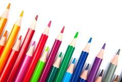 Lápices del color aislados en el fondo blanco Fotografía de archivo