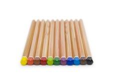 Lápices del color aislados en el fondo blanco Imágenes de archivo libres de regalías