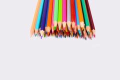 Lápices del color aislados en el fondo blanco foto de archivo libre de regalías