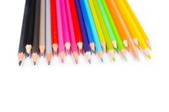 Lápices del color aislados en el fondo blanco imagen de archivo libre de regalías