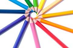 Lápices del color Cierre para arriba fotografía de archivo libre de regalías