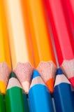 Lápices del color Cierre para arriba imagen de archivo
