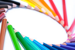 Lápices del color Cierre para arriba imagenes de archivo