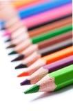 Lápices del color Cierre para arriba imagen de archivo libre de regalías