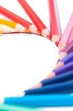 Lápices del color Cierre para arriba foto de archivo