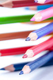 Lápices del color Cierre para arriba fotos de archivo libres de regalías