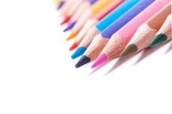 Lápices del color Cierre para arriba fotografía de archivo