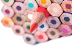 Lápices del color Cierre para arriba foto de archivo libre de regalías