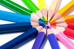 Lápices del color Cierre para arriba fotos de archivo