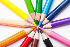 Lápices del color del arco iris Fotos de archivo libres de regalías