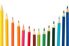 Lápices del color en el fondo blanco Imagenes de archivo
