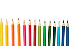 Lápices del color en el fondo blanco Imagen de archivo