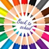 Lápices del color fijados Fotos de archivo