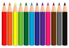 Lápices del color fijados Fotos de archivo libres de regalías