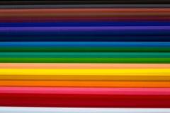 Lápices del color para el fondo abstracto fotografía de archivo
