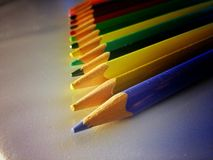 Lápices del colorante Foto de archivo libre de regalías