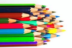 Lápices del creyón del colorante Foto de archivo