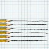 Lápices del grafito que hacen las líneas ejemplo ilustración del vector