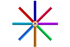 Lápices del multicolor Fotos de archivo libres de regalías