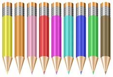 Lápices en colores pastel coloridos Stock de ilustración