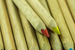 Lápices en diversos colores Imagen de archivo libre de regalías