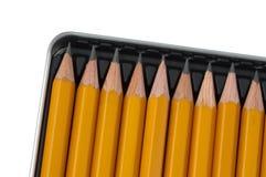 Lápices en rectángulo Fotografía de archivo