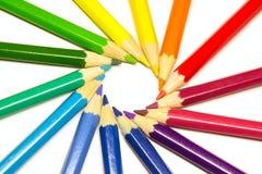Lápices en un círculo Imágenes de archivo libres de regalías