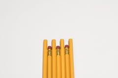 Lápices en un fondo blanco Fotografía de archivo libre de regalías