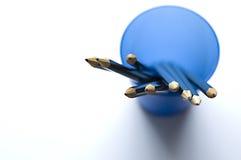 Lápices en una taza Imagen de archivo libre de regalías