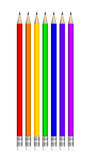 Lápices multicolores ilustración del vector