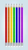 Lápices multicolores Imágenes de archivo libres de regalías