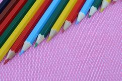 Lápices multicolores Fotografía de archivo libre de regalías
