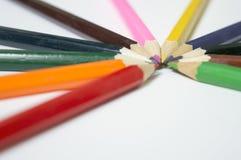 Lápices multicolores Foto de archivo